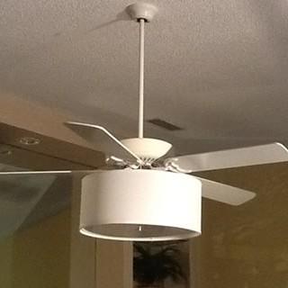 Ceiling Fan Linen Drum Shade Light Kit S T Lighting Llc