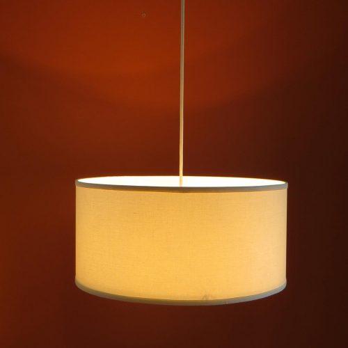 Flush Mount Linen Drum Shade Light Fixture S T Lighting