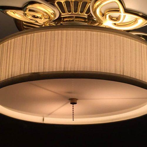 Low Profile Linen Drum Shade Light Kit For Ceiling Fan S