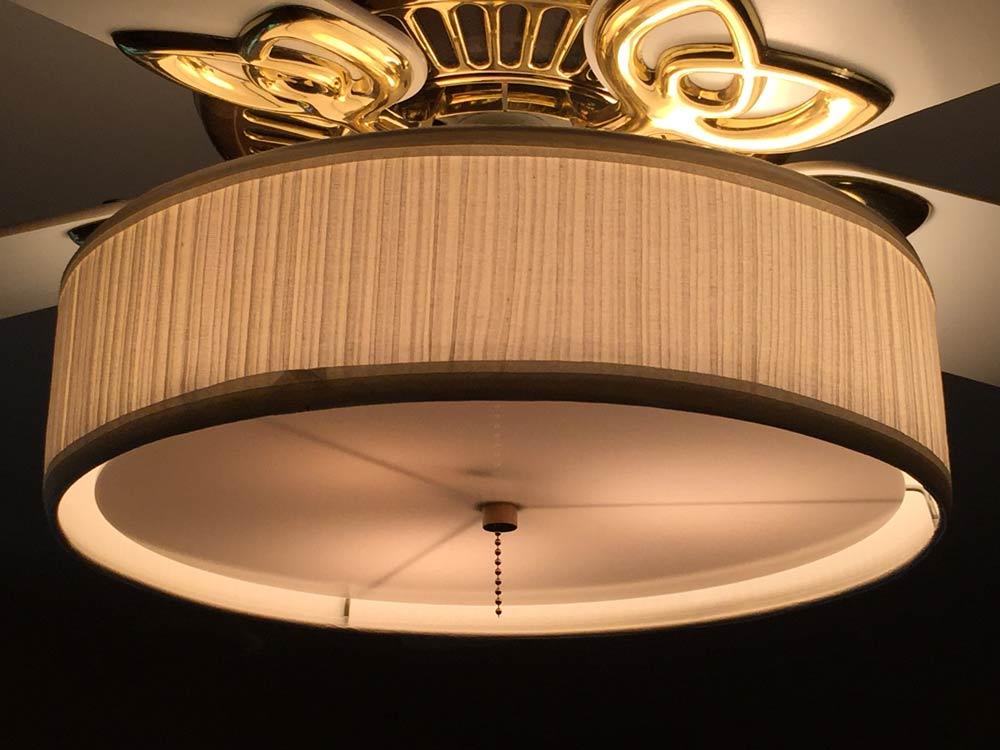 Ceiling Fans Accessories Parchment Fan Not Included Fan Light Kit Linen Drum Shade Tools Home Improvement Samel Com Br